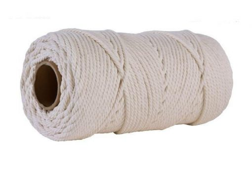 White macramé wire 4mm for 100m